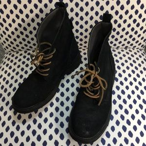 Guess Black Leather Boots Size 7 Men's